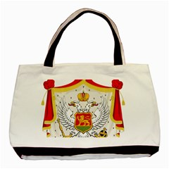 Coat Of Arms Of Kingdom Of Montenegro, 1910 1918 Basic Tote Bag (Two Sides)