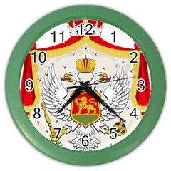 Coat Of Arms Of Kingdom Of Montenegro, 1910 1918 Color Wall Clocks