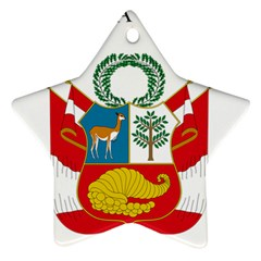 Great Seal Of Peru  Ornament (Star)