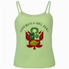 Great Seal Of Peru  Green Spaghetti Tank