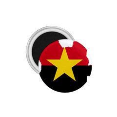 Mpla Flag Map Of Angola  1.75  Magnets