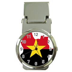 Mpla Flag Map Of Angola  Money Clip Watches