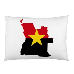 Mpla Flag Map Of Angola  Pillow Case (Two Sides)