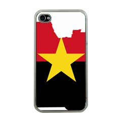 Mpla Flag Map Of Angola  Apple iPhone 4 Case (Clear)