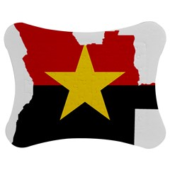 Mpla Flag Map Of Angola  Jigsaw Puzzle Photo Stand (bow)