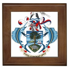 Coat Of Arms Of The Seychelles Framed Tiles