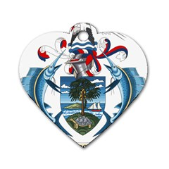 Coat Of Arms Of The Seychelles Dog Tag Heart (Two Sides)