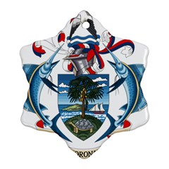 Coat Of Arms Of The Seychelles Snowflake Ornament (2-Side)