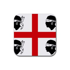 Traditional Flag Of Sardinia  Rubber Square Coaster (4 pack)