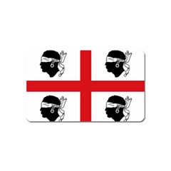 Traditional Flag Of Sardinia  Magnet (Name Card)