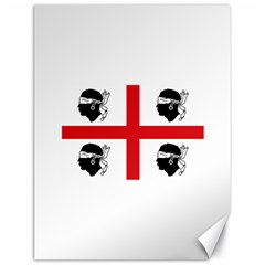 Traditional Flag Of Sardinia  Canvas 18  x 24