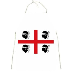 Traditional Flag Of Sardinia  Full Print Aprons