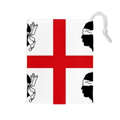 Traditional Flag Of Sardinia  Drawstring Pouches (Large)