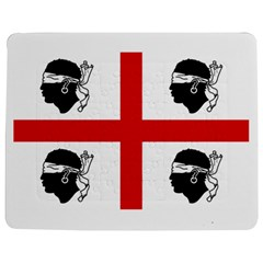 Traditional Flag Of Sardinia  Jigsaw Puzzle Photo Stand (Rectangular)