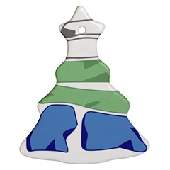 Flag Of Nunatsiavut Christmas Tree Ornament (2 Sides)