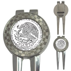 National Seal Of Mexico 3-in-1 Golf Divots