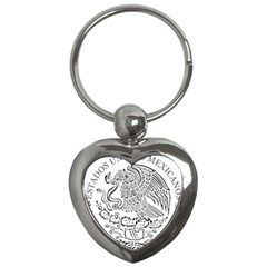 National Seal Of Mexico Key Chains (Heart)
