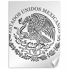National Seal Of Mexico Canvas 12  x 16