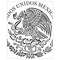 National Seal Of Mexico Drawstring Bag (Small)