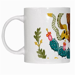 Coat Of Arms Of Mexico  White Mugs