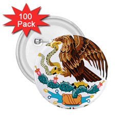 Coat Of Arms Of Mexico  2.25  Buttons (100 pack)