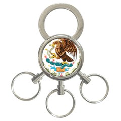Coat Of Arms Of Mexico  3-Ring Key Chains