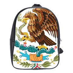 Coat Of Arms Of Mexico  School Bags(Large)
