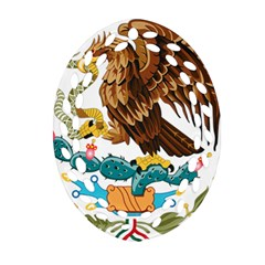 Coat Of Arms Of Mexico  Ornament (Oval Filigree)