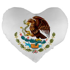 Coat Of Arms Of Mexico  Large 19  Premium Heart Shape Cushions