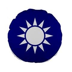 Taiwan National Emblem  Standard 15  Premium Flano Round Cushions