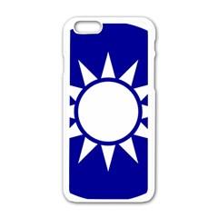 Taiwan National Emblem  Apple iPhone 6/6S White Enamel Case