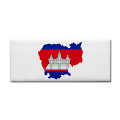 Flag Map Of Cambodia Hand Towel