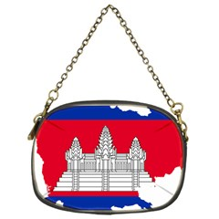 Flag Map Of Cambodia Chain Purses (One Side)