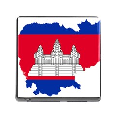 Flag Map Of Cambodia Memory Card Reader (Square)