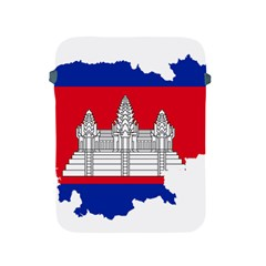 Flag Map Of Cambodia Apple iPad 2/3/4 Protective Soft Cases