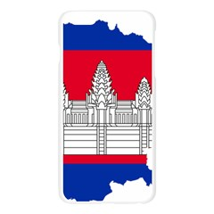 Flag Map Of Cambodia Apple Seamless iPhone 6 Plus/6S Plus Case (Transparent)