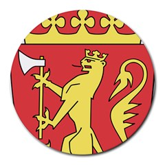 Coat Of Arms Of Norway  Round Mousepads