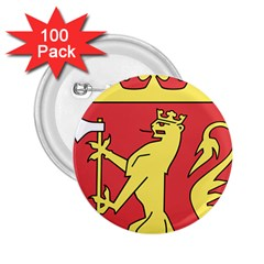 Coat Of Arms Of Norway  2.25  Buttons (100 pack)
