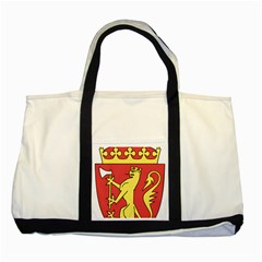Coat Of Arms Of Norway  Two Tone Tote Bag