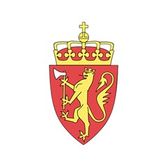 Coat Of Arms Of Norway  Shower Curtain 48  x 72  (Small)
