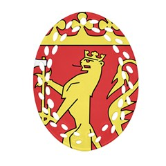 Coat Of Arms Of Norway  Ornament (Oval Filigree)