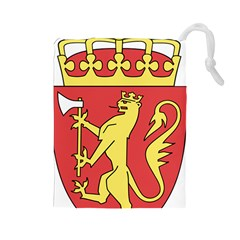 Coat Of Arms Of Norway  Drawstring Pouches (Large)