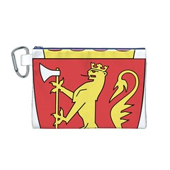Coat Of Arms Of Norway  Canvas Cosmetic Bag (M)