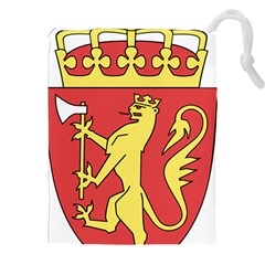 Coat Of Arms Of Norway  Drawstring Pouches (XXL)