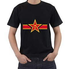 Roundel Of The People s Liberation Army Air Force Men s T-Shirt (Black) (Two Sided)