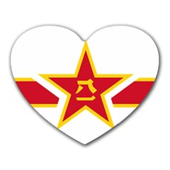 Roundel Of The People s Liberation Army Air Force Heart Mousepads