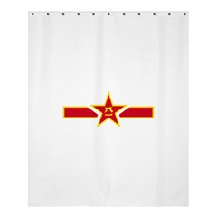 Roundel Of The People s Liberation Army Air Force Shower Curtain 60  x 72  (Medium)