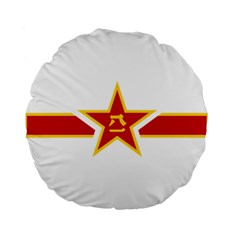 Roundel Of The People s Liberation Army Air Force Standard 15  Premium Round Cushions