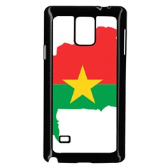 Flag Map Of Burkina Faso  Samsung Galaxy Note 4 Case (Black)