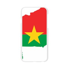 Flag Map Of Burkina Faso  Apple Seamless iPhone 6/6S Case (Transparent)